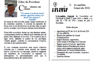 La lettre du Moulleau n°17 – Eté 2021